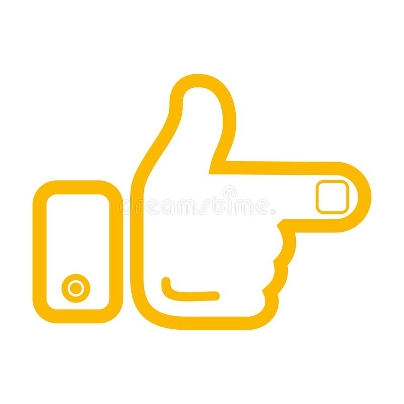 Hand and finger pointer. The icon. Vector illustration. Isolated on white stock illustration