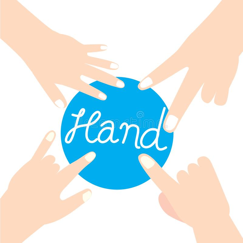 Hand and finger team vector stock images