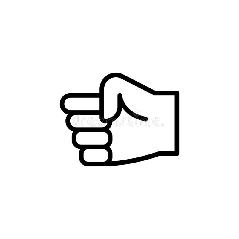 Hand fist gesture outline icon. Element of hand gesture illustration icon. signs, symbols can be used for web, logo, mobile app,. UI, UX on white background royalty free stock photos
