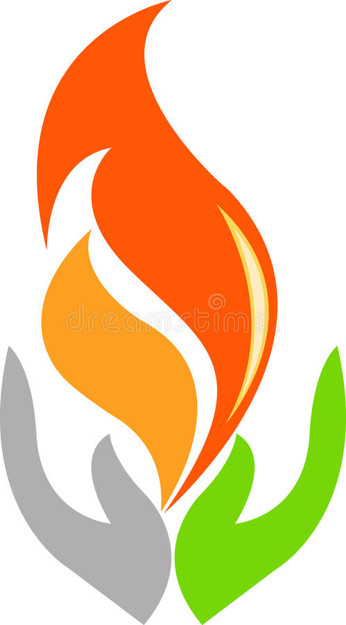 Download Hand flame stock vector. Image of green, flame, friendship - 23003430