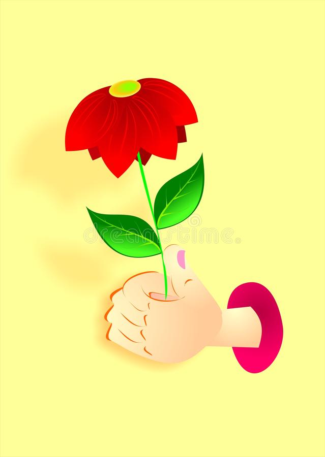 Hand With Flower Royalty Free Stock Photography