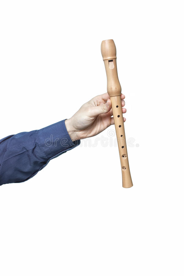 Hand with flute stock photos