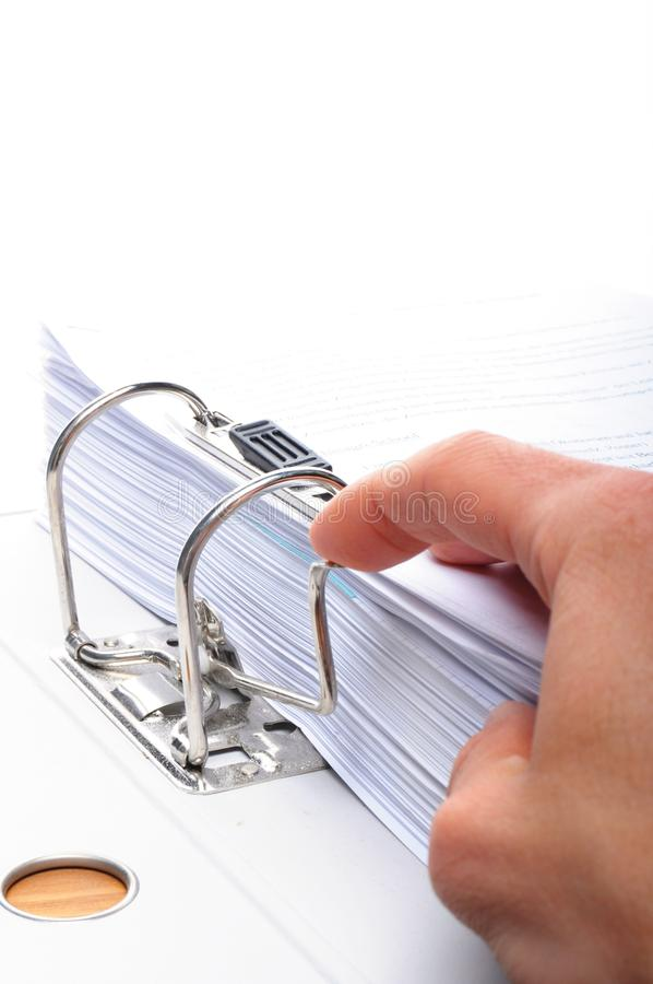 Hand And Folder Stock Images