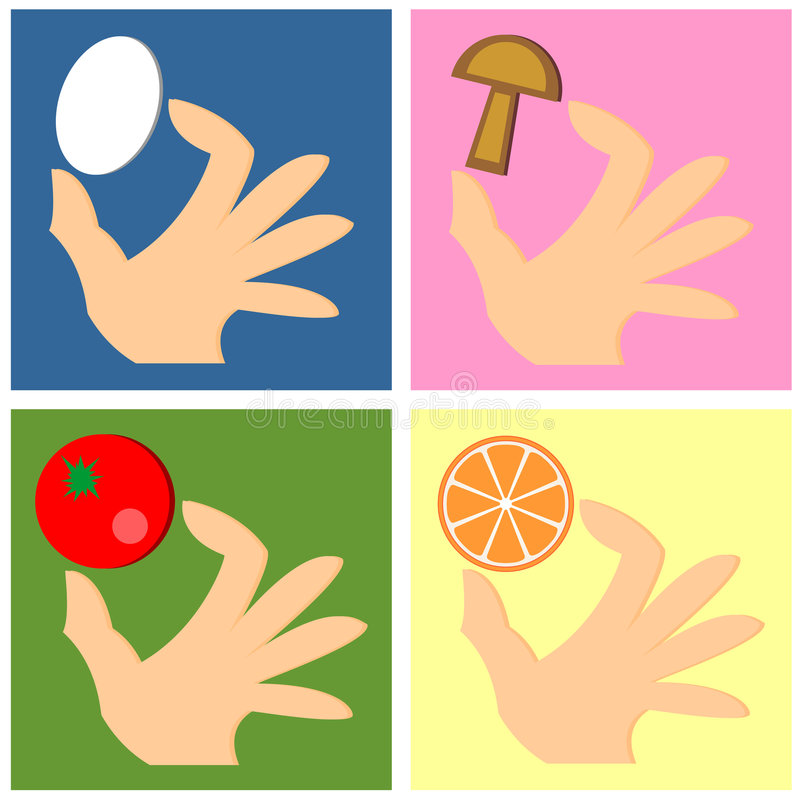 Download Hand with food stock vector. Image of organic, scalable - 2904912