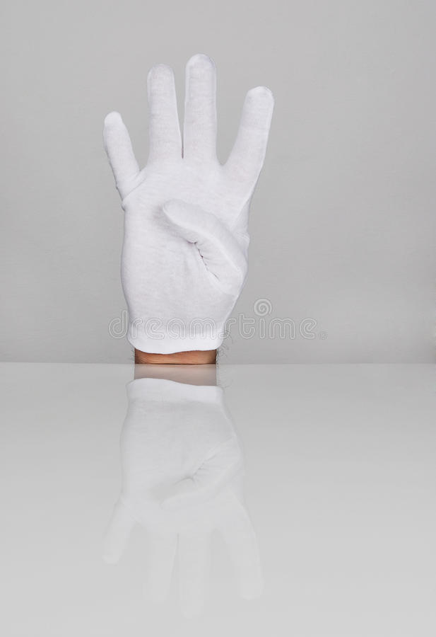 Download Four Fingers Pointing Upwards. Stock Photo - Image: 30260494