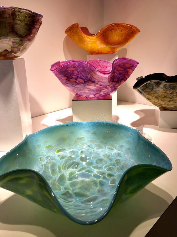 Hand geblazen glas van Corning, NY stock foto