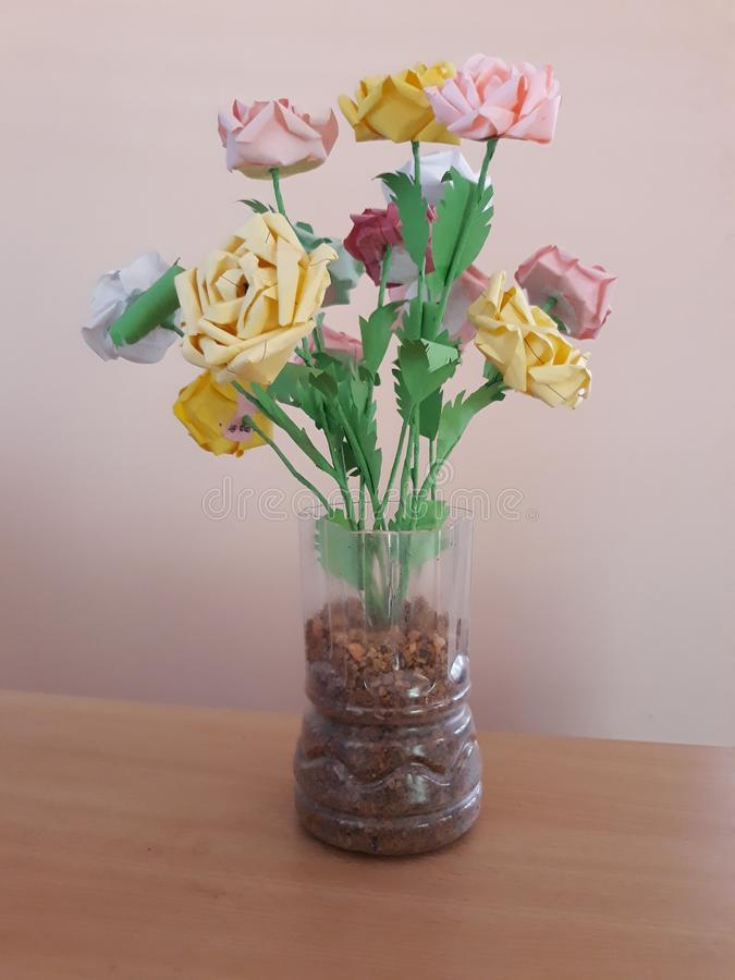 Hand - gemaakt bloemboeket royalty-vrije stock afbeelding