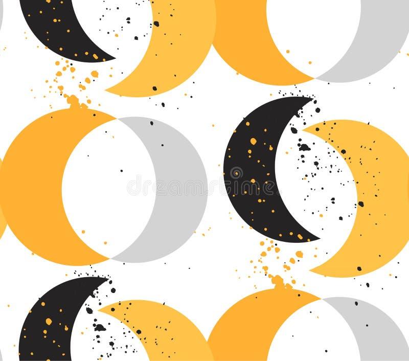 Hand - gemaakt vector abstract naadloos patroon stock illustratie