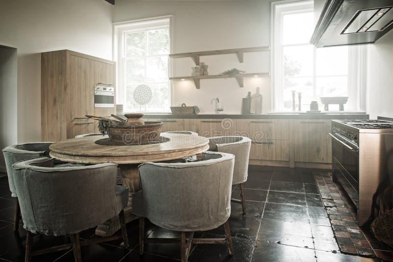Hand - gemaakte keuken stock foto