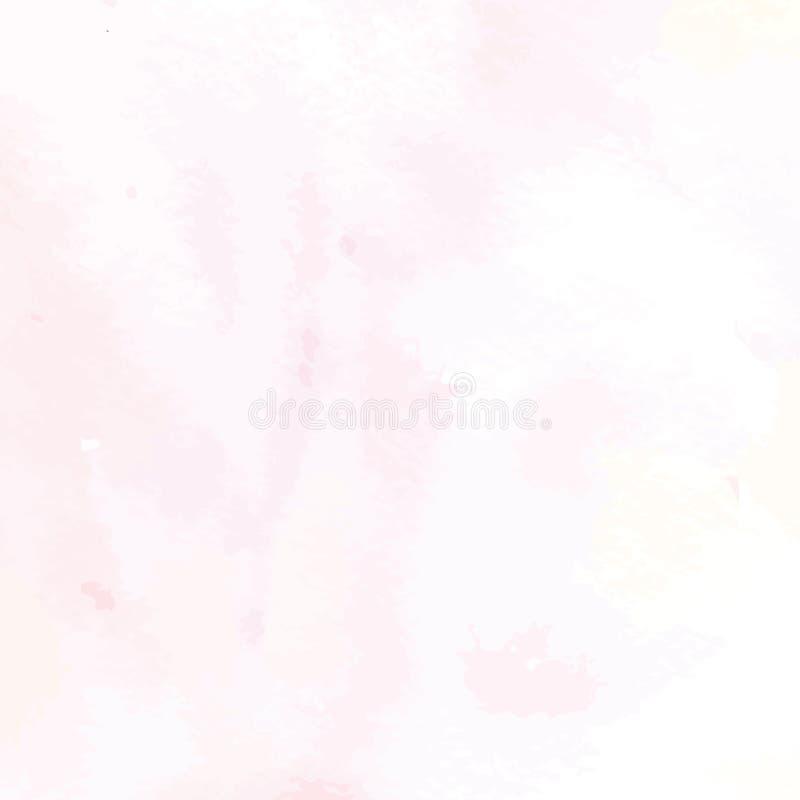 Hand Geschilderd Art Of Watercolor Paint On-Waterverfdocument stock illustratie