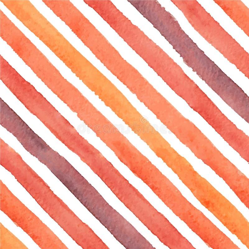 Hand geschilderd vector diagonaal slagen naadloos patroon royalty-vrije illustratie