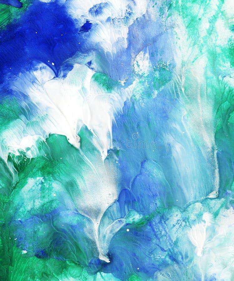 Hand geschilderde abstracte achtergrond stock fotografie