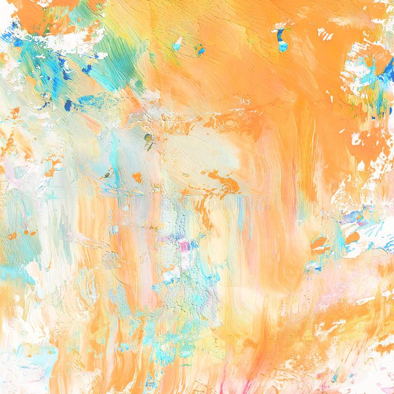 Hand geschilderde abstracte achtergrond royalty-vrije illustratie