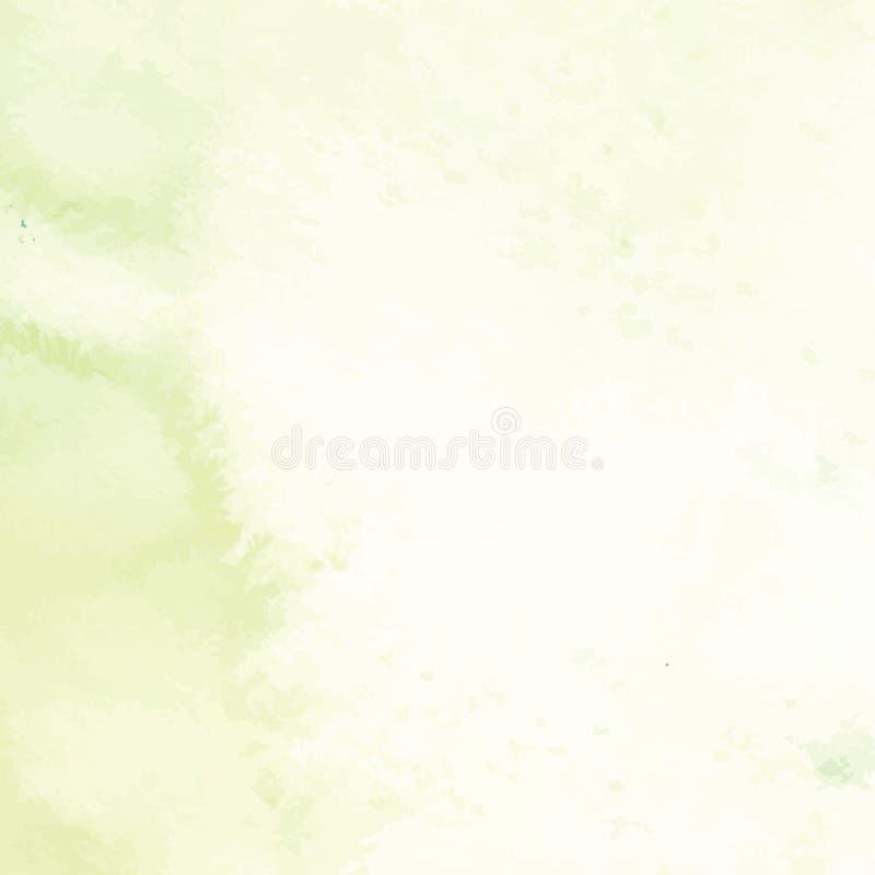 Hand geschilderde abstracte waterverfachtergrond, vectorillustratie vector illustratie