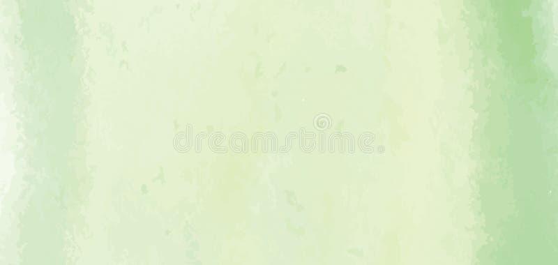 Hand geschilderde abstracte waterverfachtergrond, vectorillustratie royalty-vrije illustratie