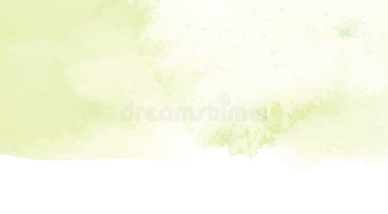 Hand geschilderde abstracte waterverfachtergrond, vectorillustratie stock illustratie