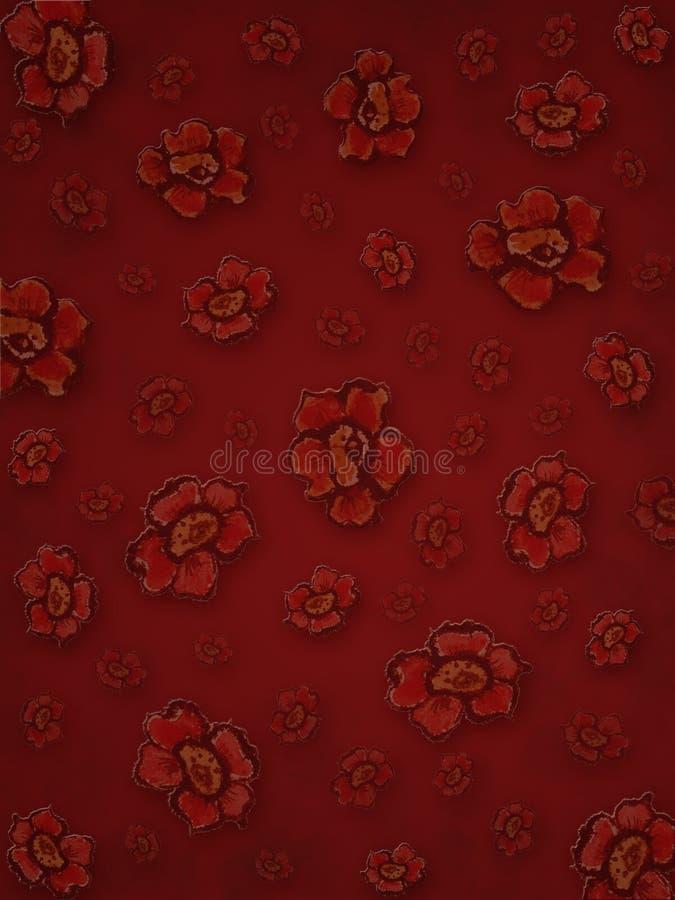 Hand geschilderde bloemen stock afbeelding
