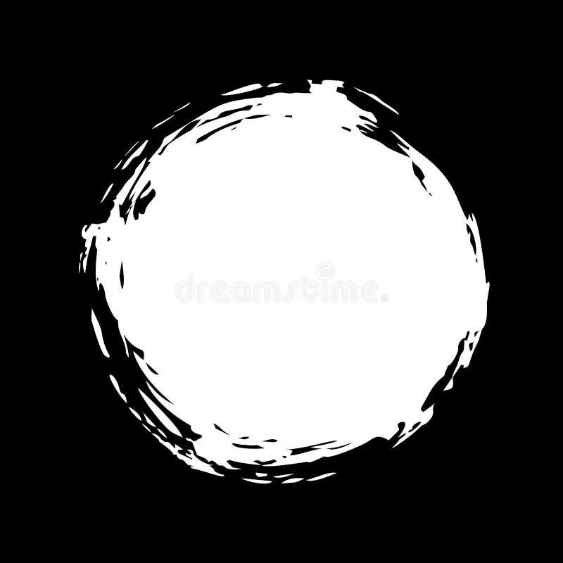 Hand geschilderde inktcirkel vector illustratie
