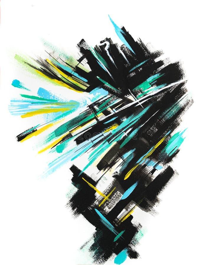 Hand geschilderde strepen met een driedimensioneel effect vector illustratie