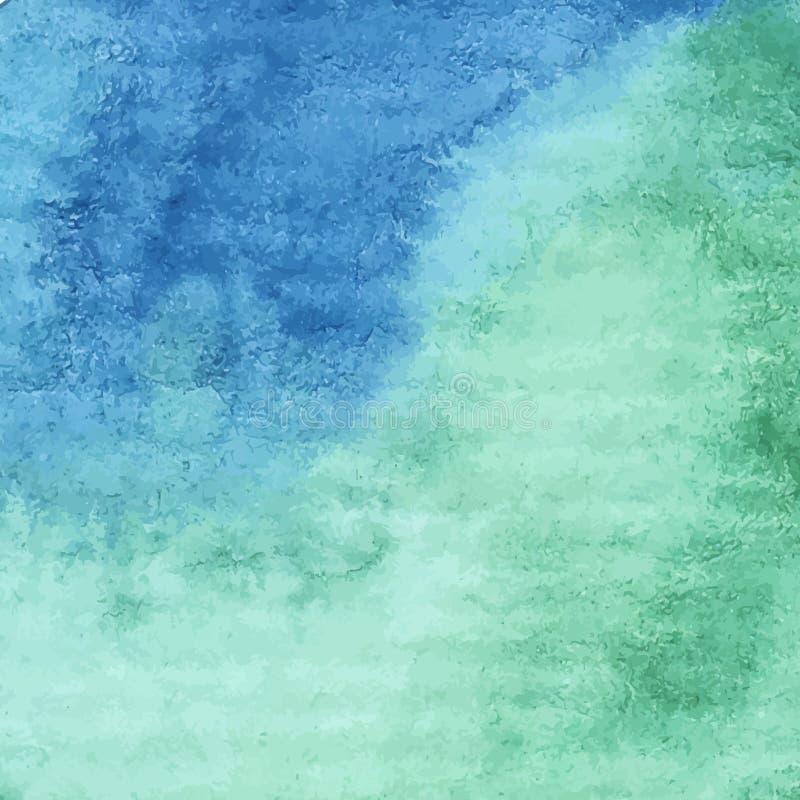 Hand geschilderde waterverfachtergrond stock foto's