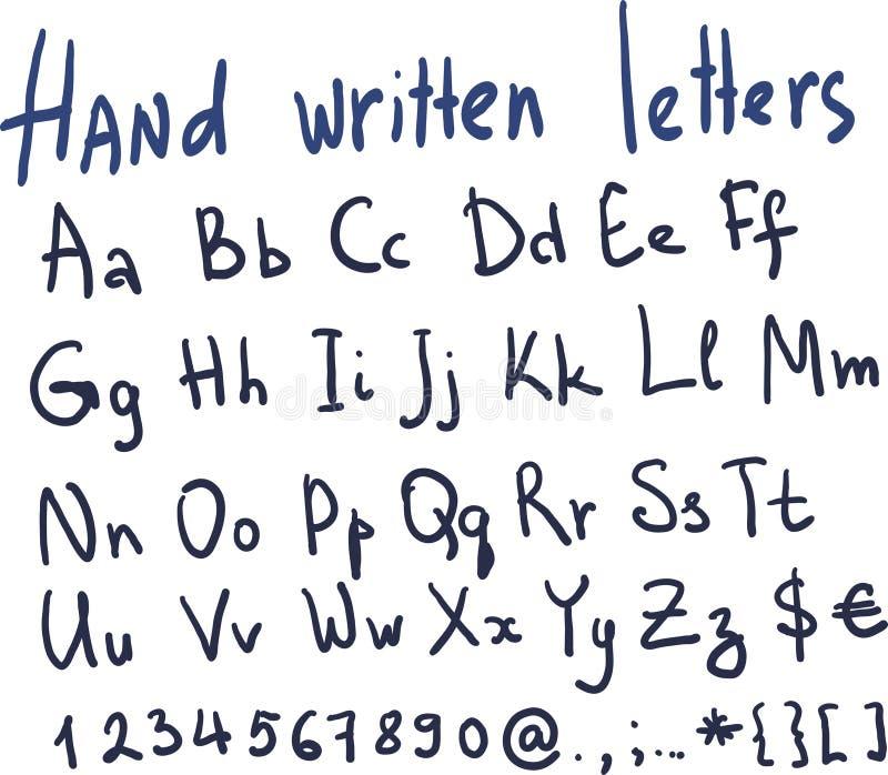 Hand geschriebene Briefe im Vektor vektor abbildung
