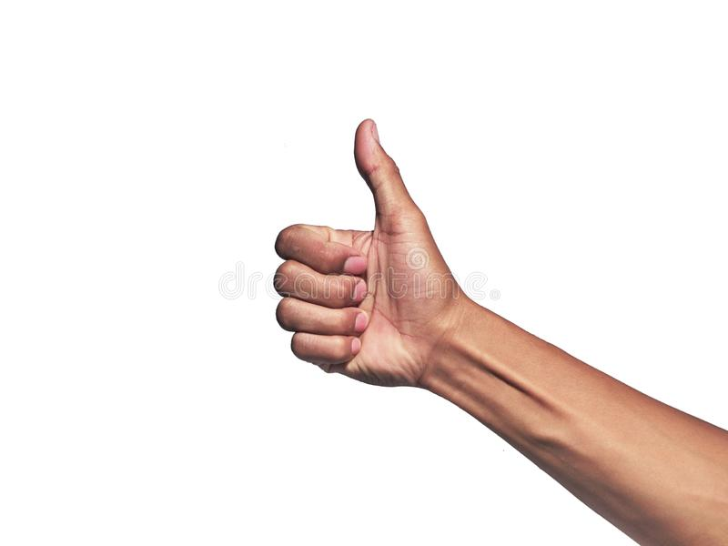 Hand gesture isolated on white background royalty free stock image