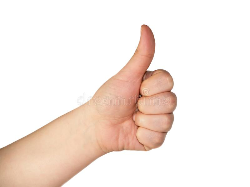 Hand gesture O.K stock photography