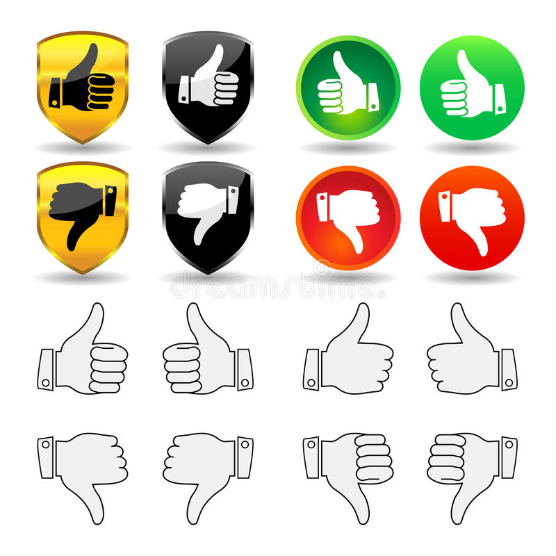 Download Hand Gesture - Set 1 - Thumbs Stock Vector - Illustration of icon, positive: 12580157