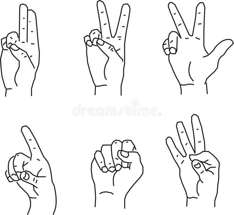 Download Hand gestures stock illustration. Illustration of point - 8257318