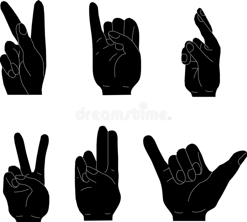 Download Hand gestures stock illustration. Illustration of isolated - 8257422