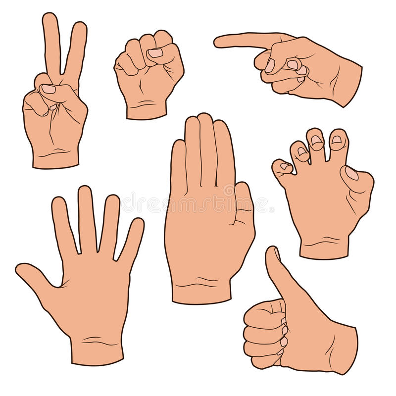 Hand gestures royalty free stock photography