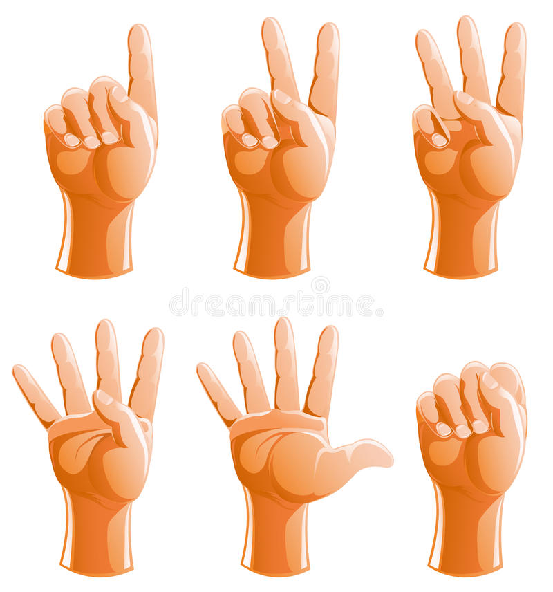Free Hand Gestures Illustration Royalty Free Stock Images - 15768679
