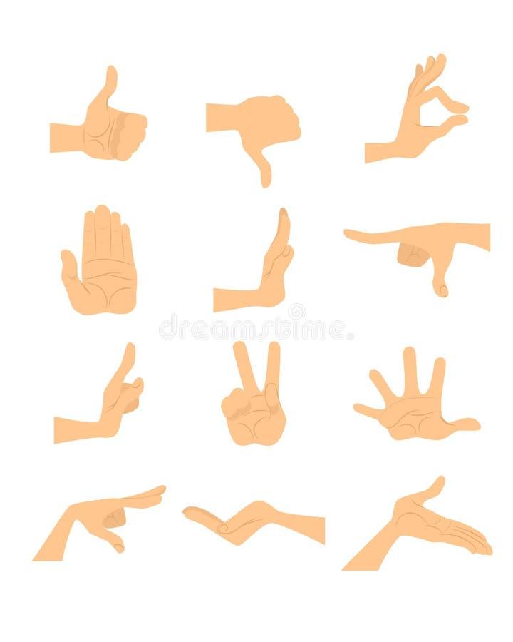 Hand gestures set. Vector illustration of a hand gestures set vector illustration