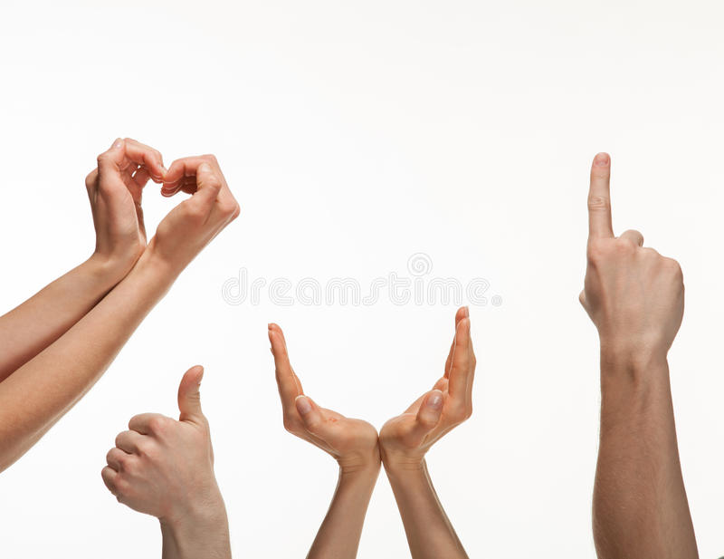 Download Hand gestures stock photo. Image of positive, different - 30453682