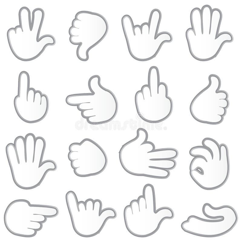 Hand Gesturing royalty free illustration
