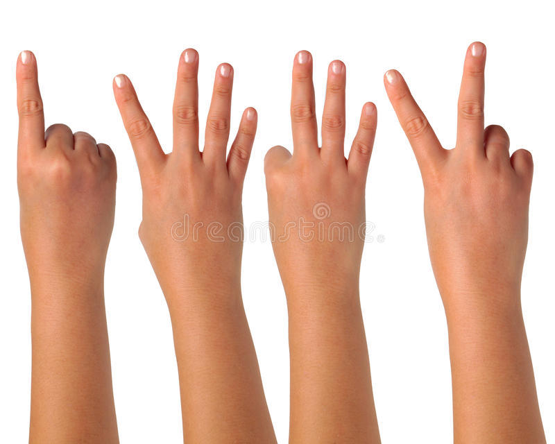 Download Hand Gesturing Signs On Isolation Stock Photo - Image of point, skin: 26472304