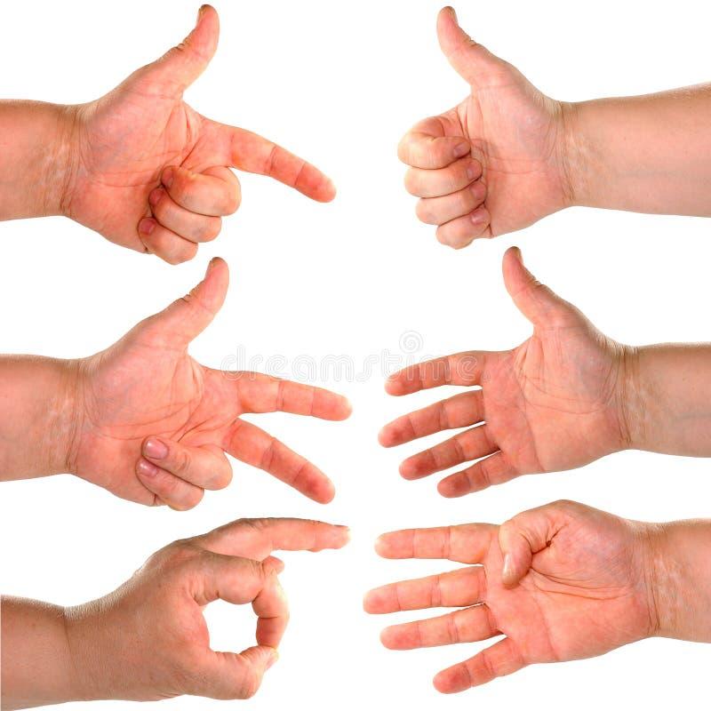 Hand getrennt. lizenzfreies stockfoto