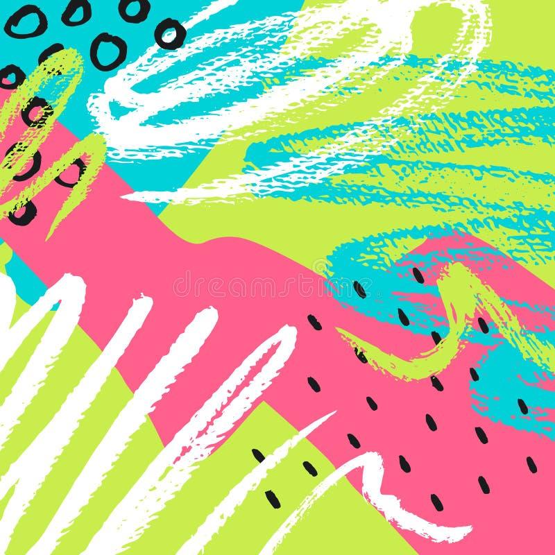 Hand getrokken abstracte achtergrond Vector illustratie royalty-vrije illustratie