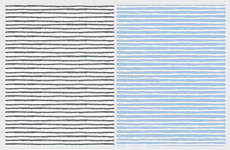 Hand Getrokken Abstracte Sleep Vectorpatronen Wit, Grijs en Blauw Ontwerp vector illustratie