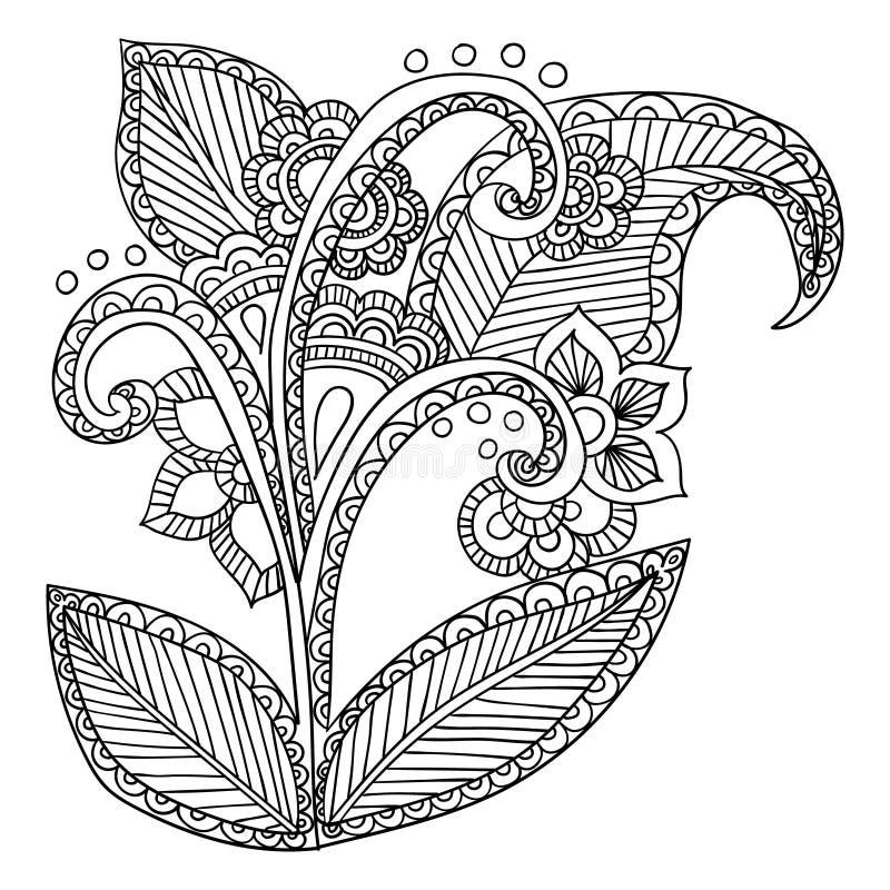 Hand getrokken artistieke etnische gevormd sier royalty-vrije illustratie