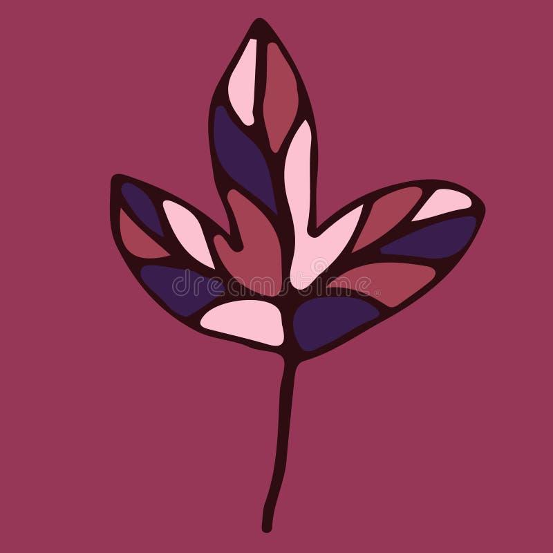 Hand getrokken bloemenelement voor ontwerp stock illustratie