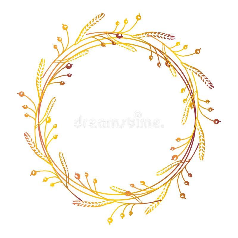 Hand getrokken bloemenkroon vector illustratie