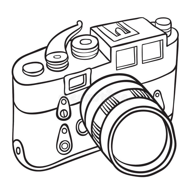 Hand getrokken camera stock illustratie