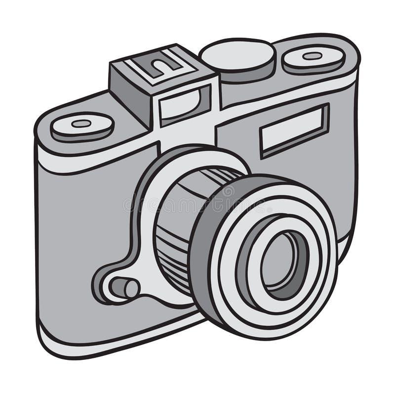 Hand getrokken camera royalty-vrije illustratie