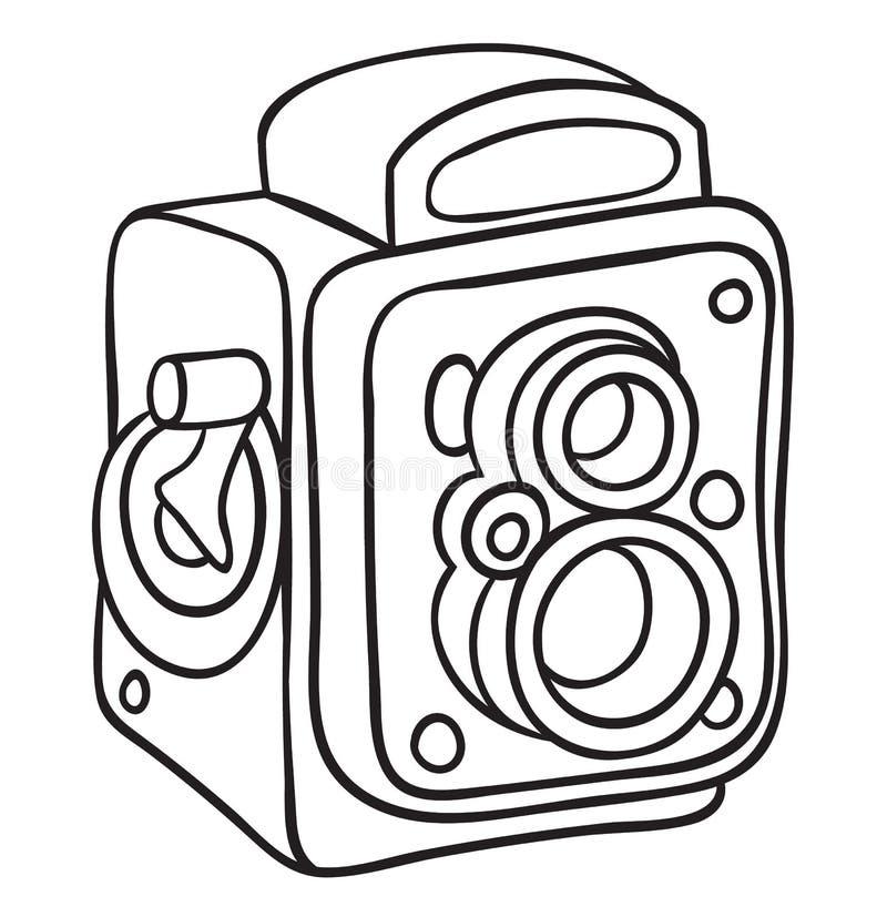 Hand getrokken camera vector illustratie