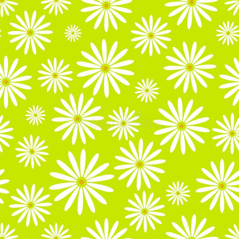 Hand getrokken de kamillebehang van Pasen van het bloem naadloos patroon met de decoratie van het drukornament en bloemen grafisc stock illustratie