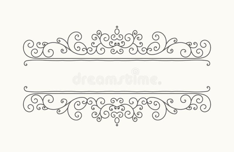 Hand getrokken decoratieve grens in retro stijl vector illustratie