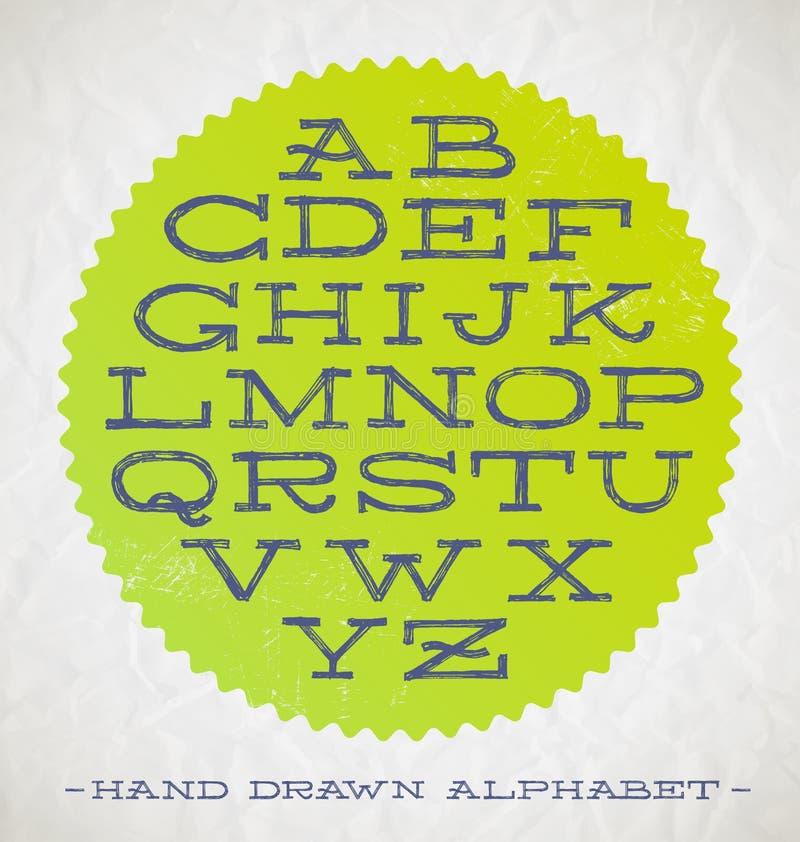 Hand Getrokken Doopvonten stock illustratie