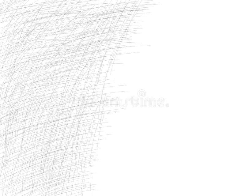 Hand getrokken dwars-uitbroedt met een potlood De schuine grijze fijne lijnen, gekrabbel, Krabbel, bekladden Vectorbekleding Ge?s stock illustratie