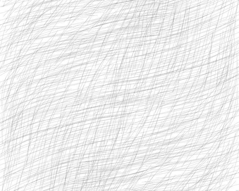 Hand getrokken dwars-uitbroedt met een potlood De schuine grijze fijne lijnen, gekrabbel, Krabbel, bekladden Vectorbekleding Ge?s vector illustratie
